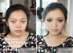 talk about the power of makeup!!!!