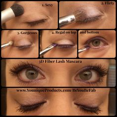 More subtle look that's PERFECT for Green Eyes! I think the Mascara MAKES this look! www.youniqueproducts.com/beyoubefab
