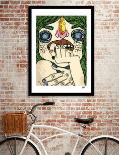 Giclee art print on heavyweight Fine Art paper, acid-free, cotton… Purple Mums, Triangle Art, Paris, Modern Artwork, Graphic Design Posters, Flower Art, Mum Flower, Art Day, Fine Art Paper