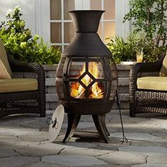 Summer time fires are easy with the Hudson Chiminea! Chiminea, Backyard, Patio, Canadian Tire, Summer Time, Bliss, Lounge, Home Appliances, Gardens