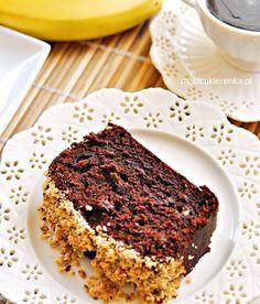 Czekoladowe ciasto z bananami - PRZEPIS - Mała Cukierenka Sweet Bread, Bon Appetit, Food Inspiration, Love Food, Tiramisu, Banana Bread, Deserts, Food And Drink, Cooking Recipes