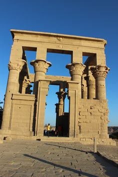 Pillars at the Kom Ombo Temple! EGYPT!