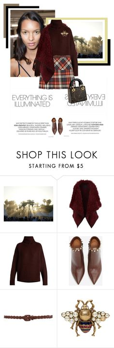 """""""Walk Away"""" by veronicamastalli ❤ liked on Polyvore featuring LE3NO, Nili Lotan, Valentino, Forever 21 and Gucci"""