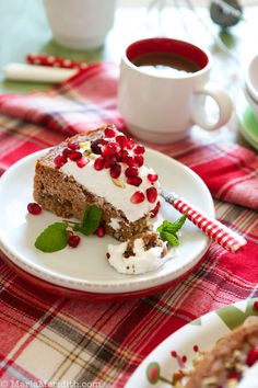 Cinnamon Coffee Cake with Coconut Cream ~ a grain-free & gluten free holiday cake