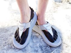 AAAAaaaarhhhh!  Under shoes by Vibram FiveFingers. Over shoes by Skechers.