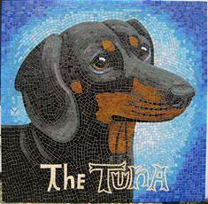Martini by mosaic artist Donna Van Hooser / sundogmosaics, via Flickr.  Love the lettering, too.