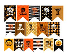 picture about Free Printable Halloween Banner known as Halloween Banner Bunting Cost-free Printable Events