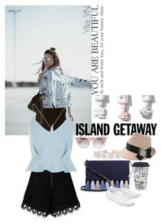 """""""Island style"""" by yyuan11 on Polyvore featuring Rebecca Minkoff, self-portrait, River Island, Lenox, Lacoste, Jimmy Choo, Brunello Cucinelli and Humble Chic"""