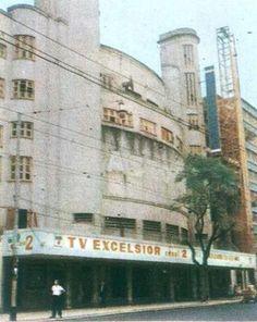 TV Excelsior, canal 2 - 1965 Na foto, vemos a sede carioca da TV Excelsior, canal 2, que ficava na Av. Visconde de Pirajá, 595, em Ipanema.