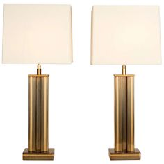 1stdibs.com - Vintage Furniture | Pair of Brass Table Lamps by De Gandt