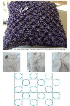 capitonè lavoraz su cerchi Smocking Baby, Smocking Patterns, Crochet Stitches Patterns, Embroidery Stitches, Hand Embroidery, Sewing Patterns, Sewing Tutorials, Sewing Crafts, Fabric Manipulation Techniques