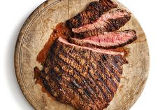 Try our spice-rubbed flank steak at your next summer barbecue and feed a crowd. This recipe serves 12 to 16 people! Photo by Jeff Coulson. How To Grill Steak, Beef Steak, Bbq Grill, Grilling, Flank Steak Recipes, Beef Recipes, Cooking Recipes, Spice Rub, Feeding A Crowd