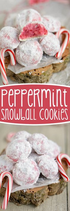 These Peppermint Snowball Cookies are everything a Christmas cookie should be! Easy, beautiful, and packed with flavor!: