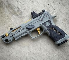 Airsoft Guns, Weapons Guns, Guns And Ammo, Armas Ninja, Custom Guns, Custom Revolver, Concept Weapons, Cool Guns, Military Weapons