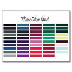 Shop Winter Color Chart Postcard created by Personalize it with photos & text or purchase as is! Clear Winter, Deep Winter, Hair Color Dark, Cool Hair Color, Fence Paint Colours, Red Hair With Blonde Highlights, Cool Skin Tone, Jewel Tone Colors, Vibrant Colors
