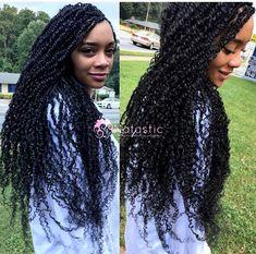 These are our Super Long Nomadik Twists. The hair provided by Natastic conforms to each individuals natural curls. Each beauty has her own… #NaturalCurlyHair Twist Braids, Love Hair, Hair Twist Styles, Kinky Twist Styles, Best Braid Styles, Natural Curls, Natural Hair Styles, Curly Hair Styles, Twist Hairstyles