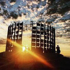 Sunrise over Sculpture by the Sea - on now until 8 November along Sydney's famous Bondi to Bronte coastal walk! #regram @ssbcreativephotography  #sculpturesbythesea #bondi #coastalwalk #bonditobronte #sydney #bitsofaustralia #art #sculptures #sunrise #golden #light #beautiful #morning #glow #sun #madeinaustralia by bitsofaus http://ift.tt/1KBxVYg