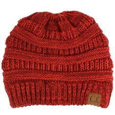 446973dbce5 Hats · Unisex 2 Tone Warm Chunky Thick Stretch Knit Slouch Beanie Skull Ski  Hat Wine  fashion