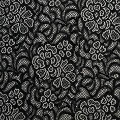 Black/White Lace Floral (moodfabrics)