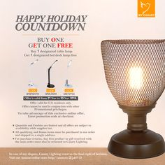 Happy Holiday!! A Gift for your home!! Buy this Vintage Iron Birdcage Table Lamp,You will get a free LED desk lamp!!