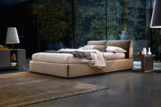 #Monolith offers a minimal #design and elegant #finishes.   #ditreitalia #newproducts #bed #design #cozy