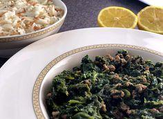 Schneller Spinateintopf - ein gesundes Blitzgericht.  #basmafood #basmamagazine #spinat