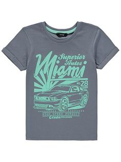 Miami Print T-shirt Ibiza 2016, Asda, Kids Online, Miami, Mens Tops, T Shirt, Shopping, Style, Supreme T Shirt