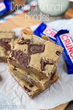 Brownie Bliss! Caramel Crunch Blondies - Hubub