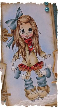 Jenine's Card Ideas: Het Canary Blog - Winter Fun Copic Marker Art, Copic Art, Coloring Books, Coloring Pages, Copic Markers Tutorial, Spectrum Noir, Colouring Techniques, Digi Stamps, Winter Fun