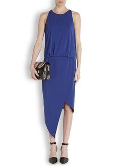 Rowan blue asymmetric jersey dress - Women