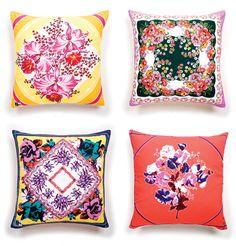 handkerchief cushions find vintage hankies here: http://www.nanaluluslinensandhandkerchiefs.com/ x