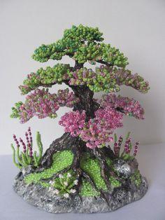 Beaded bonsai, wow!!