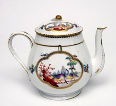 Teapot and cover Korzec Porcelain c. 1795 Poland