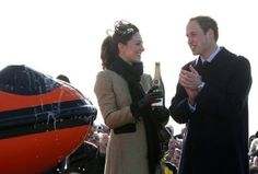 Prince William Arthur Philip Louis and Dutchess Catherine Middleton Champagne