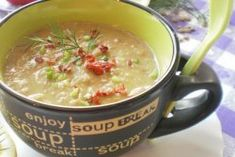 Supa crema de linte verde Cheeseburger Chowder, Soup, Green, Soups, Chowder