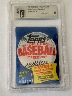1983 Topps Baseball Unopened Wax Pack PSA Graded 8 NM-MT by Topps. $89.99. PSA Graded 8 NM-MT. Possible Sandberg, Boggs and Gwynn rookie in here. Includes First Class Shipping Upgrade.