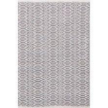 Fair Isle Grey/Platinum Cotton Woven Rug