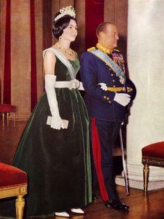 Empress Farah Pahlavi of Iran and H.M. King Olav V of Norway