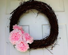 The Parkers: DIY: coffee filter flower twig wreath