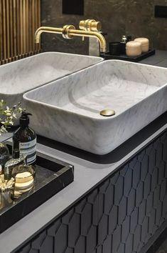 tel-aviv-modern-style-mansion-aviram-kushmirski-building-interior-design-network-design-case - The world's most private search engine Stone Bathroom, Modern Bathroom, Deco Design, Design Case, Bathroom Inspiration, Interior Inspiration, Over The Toilet Ladder, Lavatory Design, Tadelakt