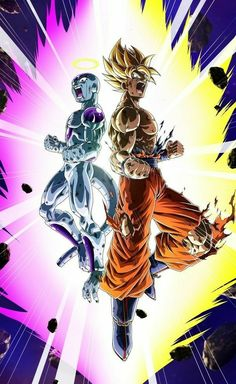 freiza goku super saiyan dragon ball z fighting powers vegeta gohan broly Dragon Ball Gt, Son Goku, Goku Y Freezer, Dragonball Super, Goku Super, Geeks, Manga Dragon, Pokemon, Fan Art