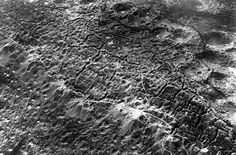 An aerial view of the Hellish moonscape of the Western Front during World War I. Hill of Combres, St. Mihiel Sector, north of Hattonchatel and Vigneulles.