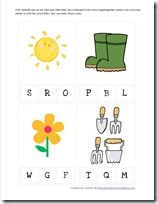 Garden Preschool Pack, letter Sound recognition and other games for planting theme