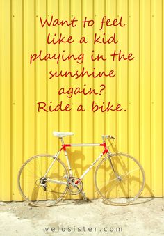It's so true. I always feel like I'm 8 again, playing with my friends in the summer holidays. Love #cycling :)