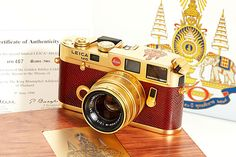 King Of Thailand Golden Jubilee 24-Carat Gold Plated Lecia M6 Camera