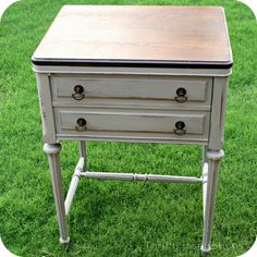 I need to redo my sewing desk and love this look. But I will keep mine as a functioning sewing table!