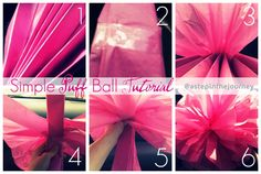 Tissue Paper Pom Poms | A Step In The Journey
