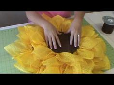 Trendy Tree Deco Paper Mesh Sunflower Tutorial - YouTube