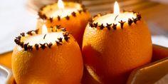 vela em casca da laranja boa ideia para aromatizar a sua casa / orange and clover candle
