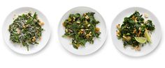Steamed Spinach 3 ways